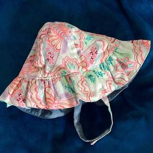 Other - Baby Girls Reversible Ruffle Chambray Bucket Hat